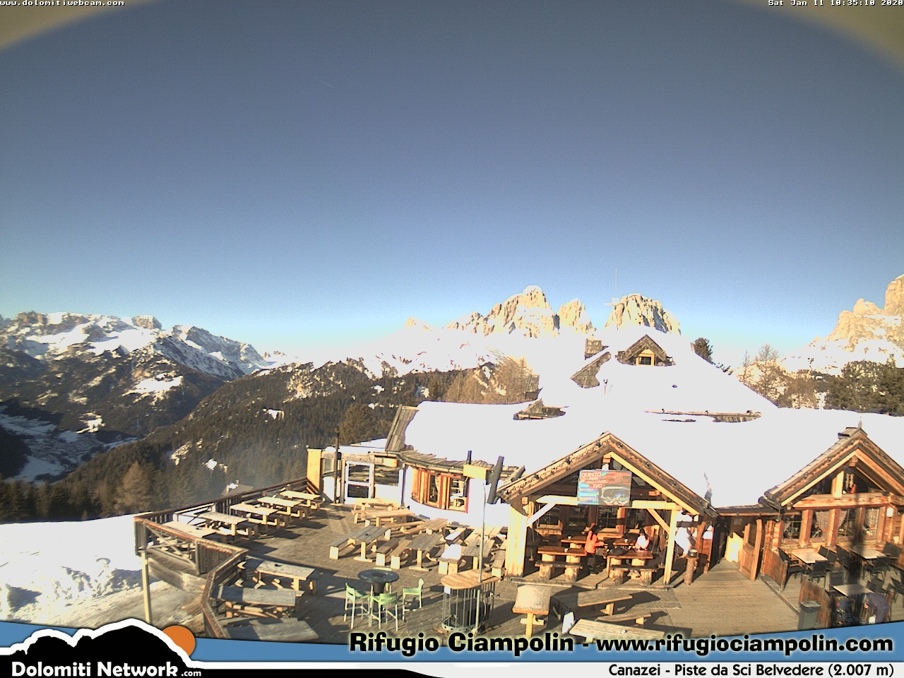 Webcam Canazei - Rifugio Ciampolin Live webcamera