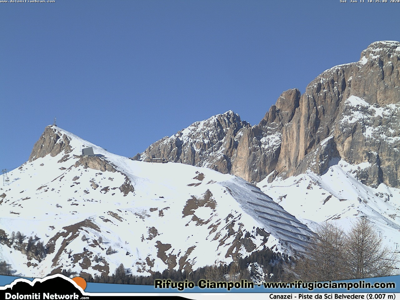 Webcam en Col Rodella, Val di Fassa (Alpes Italianos)